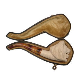 meerschaum medium lion case pipe