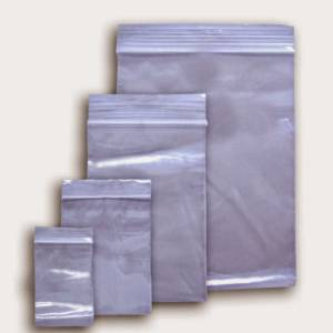 Baggies with Zip Lock  per Pack Various Sizes