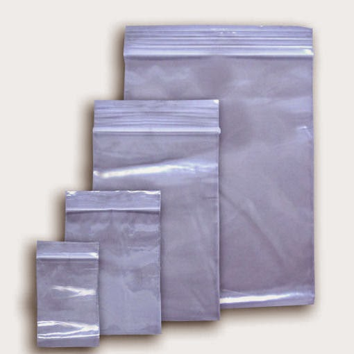 Baggies with Zip Lock  per Pack Various Sizes
