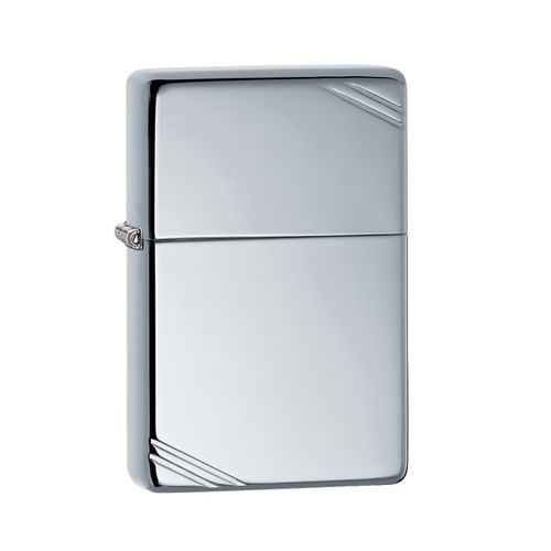 Zippo High Polish Chrome Vintage with Slashes