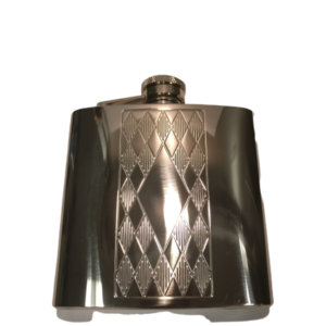 Flask, Embossed Matte Diamond 6oz