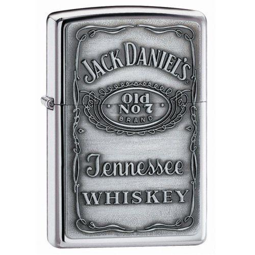Zippo Jack Daniels Chrome Label