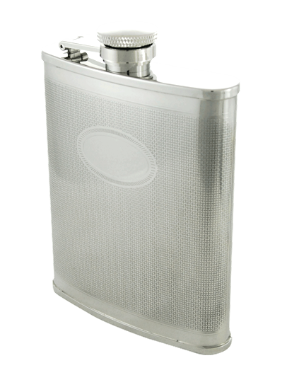 Flask, with Oval Engraving 6oz