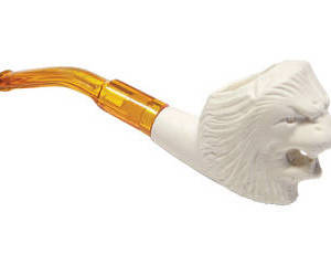 Mini Lion Meerschaum with Case