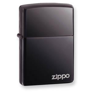 Zippo Classic Black Ice Zippo Logo