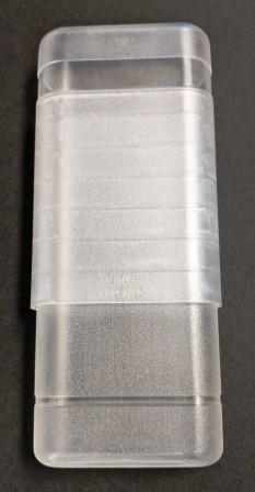 Plastic 3 Cigar Holder - CLEAR