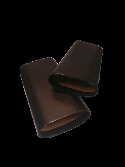 Black Leather 3 Finger Cedar