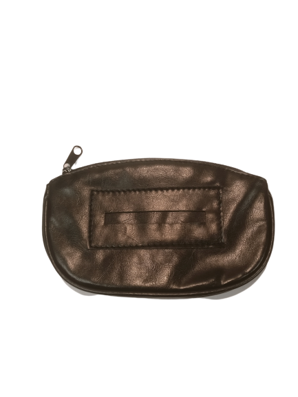 Black Zipper Tobacco Bag