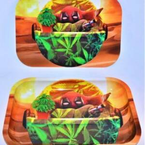 BABY YODA DEADPOOL ROLLING TRAY With COVER