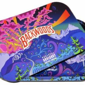 BACKWOODS LARGE PARENTAL ADVISORY ROLLING TRAY WITH COVER
