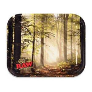 RAW-Smokey-Forest-Rolling-Tray-Large