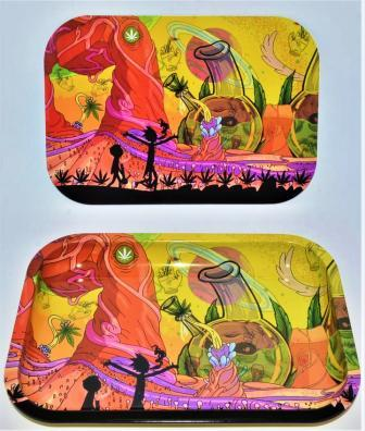 Rick and Morty Rolling Tray with Cover